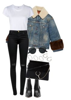 """""""Sem título #1450"""" by manoella-f ❤ liked on Polyvore featuring Gucci, RE/DONE, J Brand, Chloé, Ray-Ban and ASOS"""