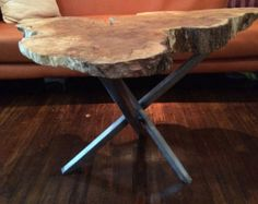 Old growth slab coffee table