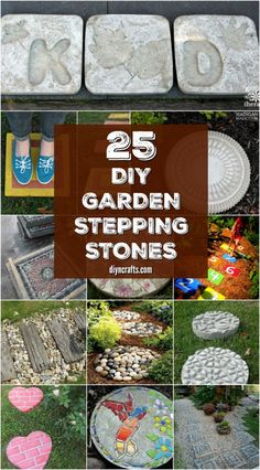 25 Top Garden Stepping Stone Ideas For A Beautiful Walkway - Curated and published by DIYnCrafts via @vanessacrafting