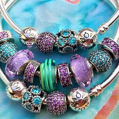 Playing with more purples and teals. I often like wearing a bangle on each side…