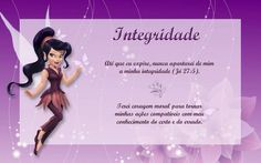 Organização das Moças - Cartazes dos Valores das Moças com Escrituras (Fadinhas Disney)