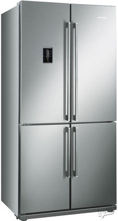 Buy GRADE - Smeg Four Door Frost Free American Fridge Freezer - Stainless Steel from Appliances Direct - the UK's leading online appliance specialist Four Door Refrigerator, 4 Door Refrigerator, Side By Side Refrigerator, American Fridge Freezers, American Style Fridge Freezer, Smeg Fridge, Retro Fridge, Freestanding Fridge, Frost Free