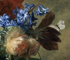 Bouquet of Flowers in an Urn by Jan van Huysum, 1724 (detail)