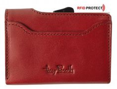 Furbo Tony Perotti Geldbörse Kreditkarten rot RFID-Schutz Rouge - Bags & more Card Holder, Wallet, Cards, Red, Dime Bags, Pocket Wallet, Handmade Purses, Maps, Playing Cards