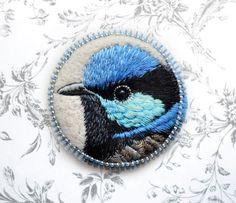 blue wren . custom order от cOnieco на Etsy