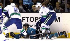 A look at the best photos from around the NHL. Take The Fall, Nhl Season, First Period, Shark S, San Jose Sharks, Vancouver Canucks, Cool Photos, March, Seasons