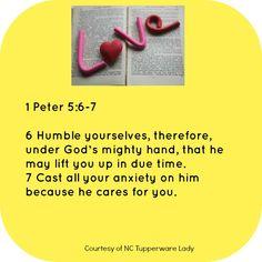 1 Peter 5:6-7 #godslove #love