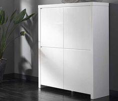 Roos Opbergkast 120cm - Hoogglans Wit