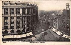 Liverpool, Ranelagh Street, Lewiss, tram, auto cars animated 1926 RP   eBay
