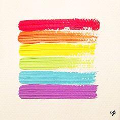 Happy Mardi Gras, Sydney! Have a fabulous and safe night x #MardiGras #Art #Artwork #Paint #Brushstrokes #Rainbow #Colourful