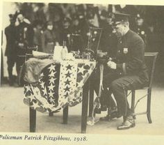 Policeman sock knitting 1918