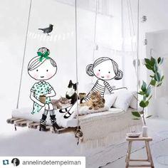 Annelinde Tempelman / Borduren En Haken Op De Bank   Illustraties Annelinde  Tempelman   Pinterest   Illustrations