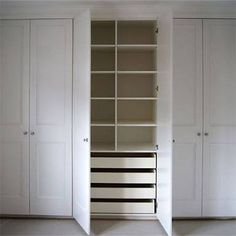 we offer some easy diy tips on how to construct a basic fitted wardrobe or built in cupboard using mdf and that can be embellished with panels or moulding - Built In Wardrobe