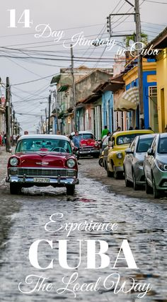 Two Week Cuba Itinerary: 14 Days in Cuba. Explore Cuba the local way. If you have limited vacation time or don't mind traveling ultra fast, you can easily see all the main cities including Havana, Viñales, Trinidad, Cienfuegos, Camaguey, Santiago de Cuba, Holguin and Baracoa with 14 days in Cuba. Click to read more at http://www.divergenttravelers.com/two-week-cuba-itinerary/