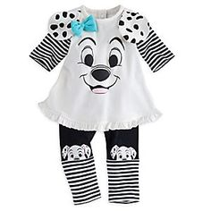 101 Dalmatians Knit Set for Baby   Disney Store Your little pup will love to play in this comfy knit set featuring our sweet Dalmatian tee with 3D ears, beautiful bow, and coordinating leggings.