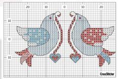 Kanaviçe Şemaları Wedding Cross Stitch, Cross Stitch Love, Kids Rugs, Birds, Pattern, Animals, Decor, Model, Punto De Cruz