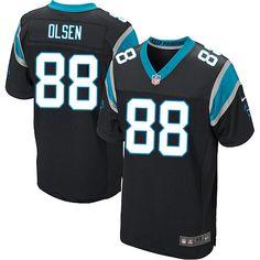 Men Nike Carolina Panthers #88 Greg Olsen Elite Black Team Color NFL Jersey Sale Malcolm Butler jersey