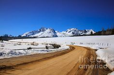 Open Road ToThe Sawtooth Mountains: See more images at http://robert-bales.artistwebsites.com/