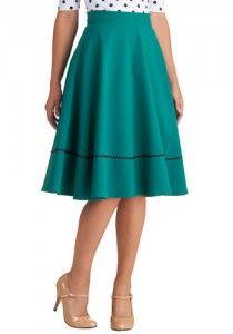 1940′s Style Dirndl Skirt at Modcloth #1940s #skirt
