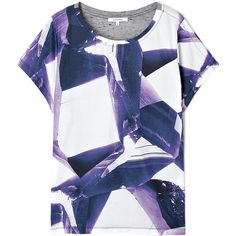 Carven Geometric Print T-shirt ($199) ❤ liked on Polyvore