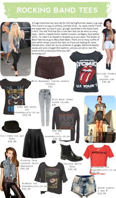How to Rock a Band Tee  S/S 2013 Fashion Trend