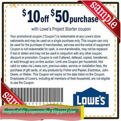 Lowes Printable Coupon December 2014
