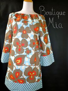 Boatneck DRESS or TOP  3/4 length sleeves  Amy by BoutiqueMiaByCXV, $68.00