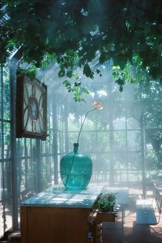 If one looks up the description of a conservatory, it certainly will tell you that should be a green-house. Outdoor Rooms, Indoor Outdoor, Outdoor Living, Indoor Garden, Home And Garden, The Secret Garden, Simple Interior, Greenhouse Gardening, Glass House