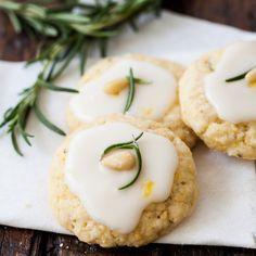 Rosemary lemon polenta cookies