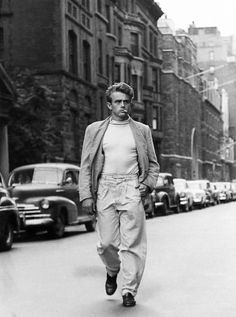 James Dean photographed by Roy Schatt in New York City, 1954.