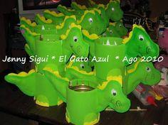 centros de mesa de dinosaurios para fiestas infantiles - Buscar con Google