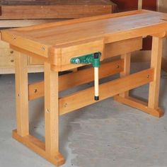 Classic Workbench Woodworking Paper Plan