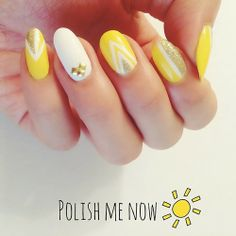 Yellow nail art #nail #nails #nailart