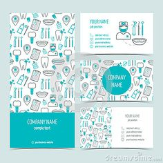 Set of flyer, brochure and business cards for dental clinic. Set of promotional products. Logo Dental, Dentist Logo, Dental Art, Dental Business Cards, Business Card Design, Business Brochure, Dental Office Design, Medical Design, Dental World