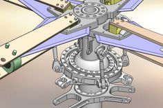 Helicopter main rotor - Rotor principal d'hélicoptère - STEP / IGES - 3D CAD…