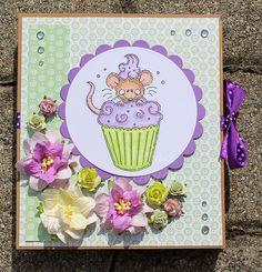Tinas kreative Seite: Buchkarte mit Mäusen zum Verbraten