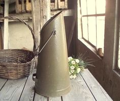 Vintage Coal Scuttle - French Coal Bucket - Umbrella Stand - Long Bucket - Hammered Metal Bucket - High Flower Planter ~~~~~~~~~~~~DIMENSIONS~~~~~~~~~~~~~ Down Diam.: 9.5 in / 24 cm Height : 19 in / 48 cm 1 Kg. ~~~~~~~~~~~~CONDITIONS~~~~~~~~~~~~~ Good Vintage condition - the plastic on the handle is worn as you can see on pic. 3. ~~~~~~~~~~~~INFORMATION~~~~~~~~~~~~ This item is shipped from France via priority trackable airmail. You can choose a shipping upgrade with insurance once you...