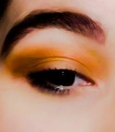 Orange color, eye look