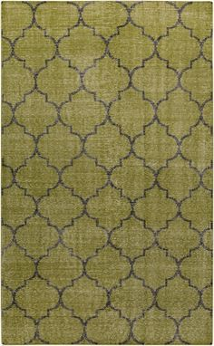 Stun everyone with this gorgeous gold rug with contrasting lattice pattern. New from the Zahra Collection from Surya. (ZHA-4012)