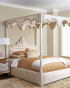 Look effortlessly glam with this Haute House William Canopy Bed. Bedding Master Bedroom, Dream Bedroom, Bedroom Fun, Bedroom Decor, Master Bedrooms, Bedroom Furniture, Home Furniture, Furniture Design, California King Canopy Bed