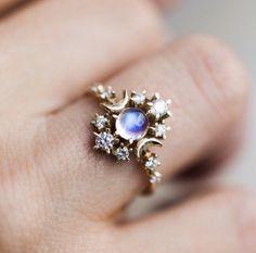 Silberschmuck riesige Mondstein Hochzeit Mann Verlobungsring Opal Stein Geschenk