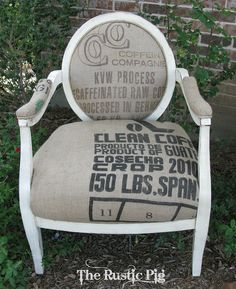 A DIY French Grain Sack Chair