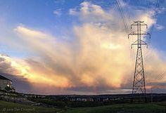 Sunset Storm Pano