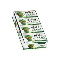 Buy Trident Layers Gum Green Apple + Golden Pineapple Sugar Free 14 Pieces, Visit: http://jcandy.net/chewing-gum/adams/trident-layers-trident-splash-trident-white-trident-value-pack.html