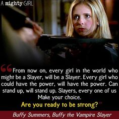 """Today marks the 20th anniversary of the premiere of """"Buffy the Vampire Slayer,"""" one of the most beloved Mighty Girl television shows of all times! For seven seasons, Buffy turned the classic horror movie trope of the helpless girl twisting her ankle and becoming the first victim on its head as the petite, blonde former cheerleader turns out to be the hero who saves the world from vampires, demons, and other assorted nasties. Created, written, and directed by Joss Whedon and starring Sarah…"""