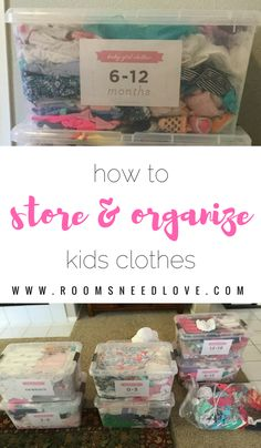 How to store and organize kids clothes