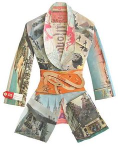℘ Paper Dress Prettiness ℘ art jacket made of paper by Peter Clark