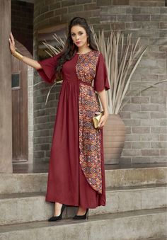 Gowns Online - Buy Designer Gown, Stylish Gown For Women at Craftsvilla Stylish Gown, Stylish Dress Designs, Designs For Dresses, Stylish Dresses, Kurti Neck Designs, Kurta Designs Women, Kurti Designs Party Wear, Mode Abaya, Mode Hijab