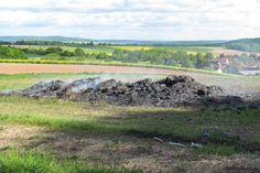 Strohballenlager in Weißenborn in Brand