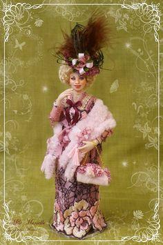 soraya dolls | MLLE MURIELLE ooak French Edwardian lady 1:12 dollhouse doll by Soraya ...